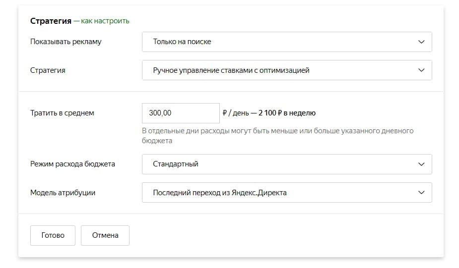 Стратегия рекламной кампании Яндекс Директ